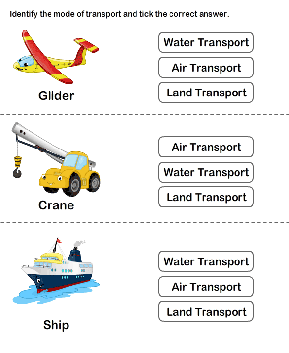 Teaching Transport Free Printable Transport Worksheets