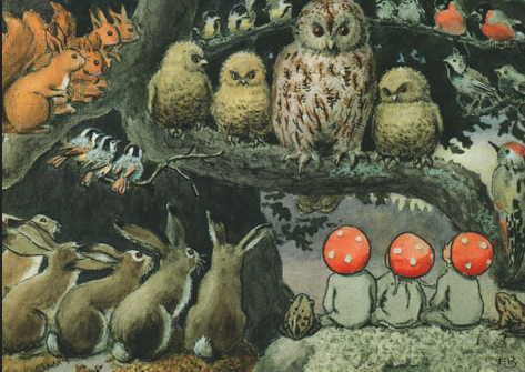 Elsa Beskow. I just loved this. It would make a great story starter also, for a child's writing project.
