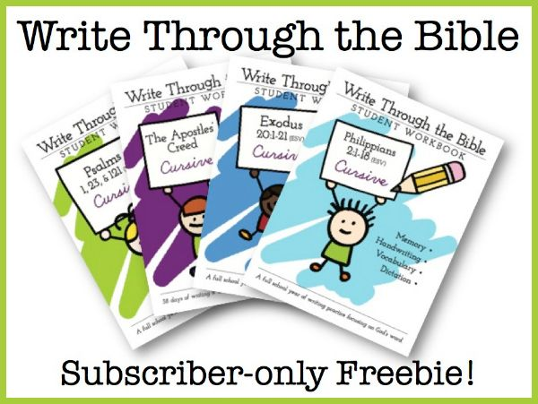 Write Through the Bible. Get it while it's free!