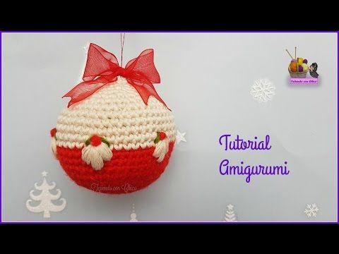 Tutorial De Amigurumis Navideños : Tutorial amigurumi bola navideña youtube navidad
