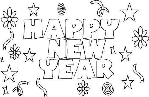 Explore Coloring Pages For Kids And More Great Happy New Year 2015 KidsPrintable