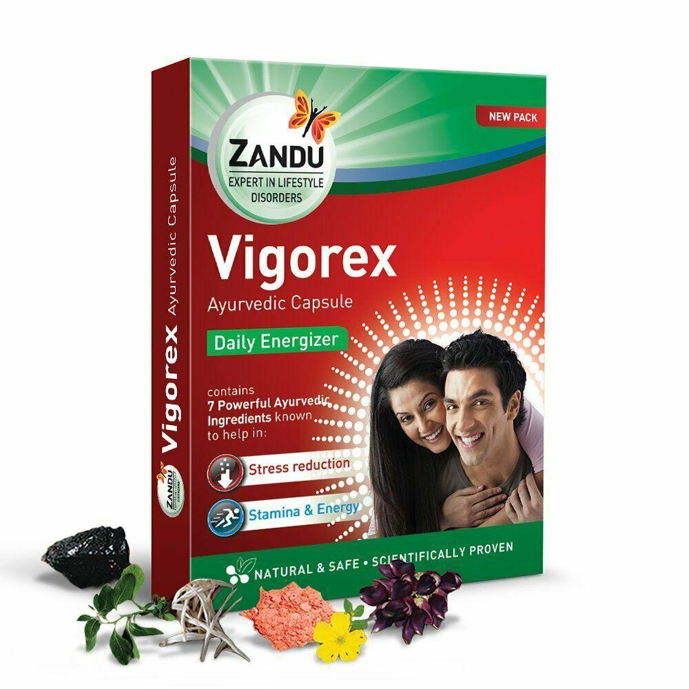 Zandu Vigorex Ayurvedic Daily Energizer 10 capsules 500