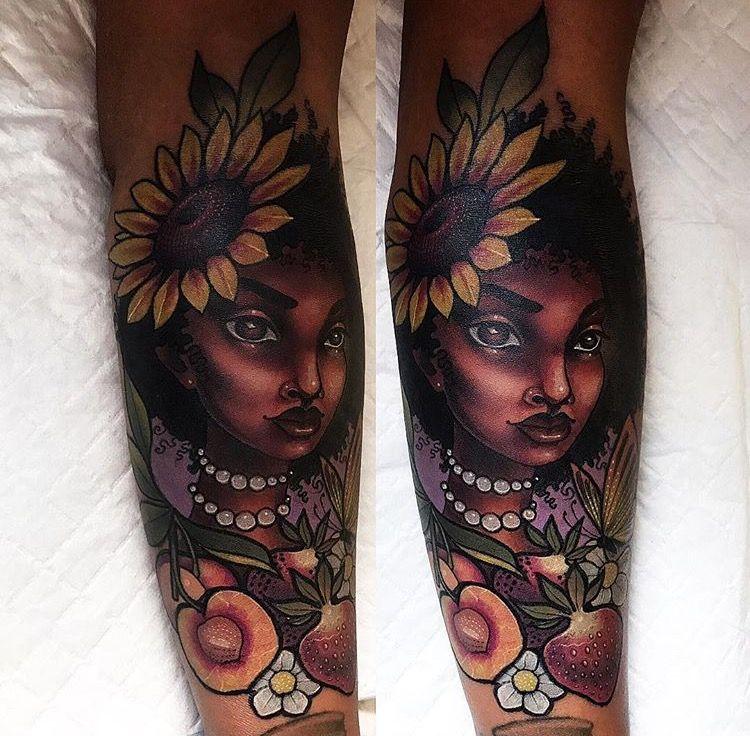 Dark Skin Color Tattoo: Pin On Tattoos