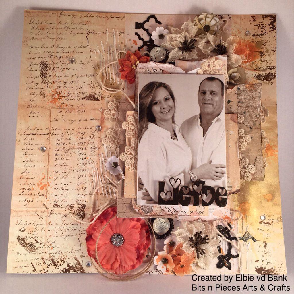 Scrapbook theme ideas -  Papercraft Layout Scrapbook Prima Love