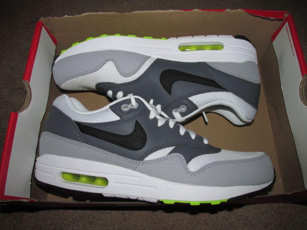 best loved 4485b 84b05 Nike Air Max 1 Essential Mens Running Shoes 10.5 White Black Grey 537383 128   Nike  RunningCrossTraining