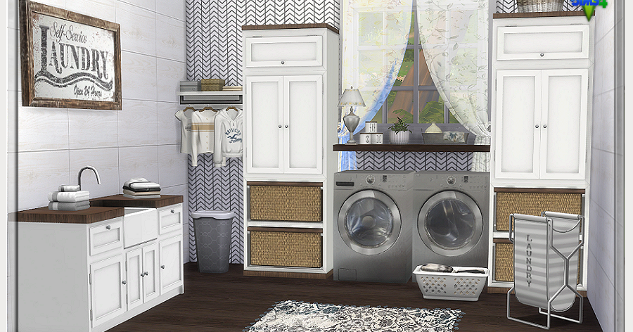 Chicklet S Nest Laundry Days Laundry Room Sims 4 Sims House Sims 4 Cc Furniture