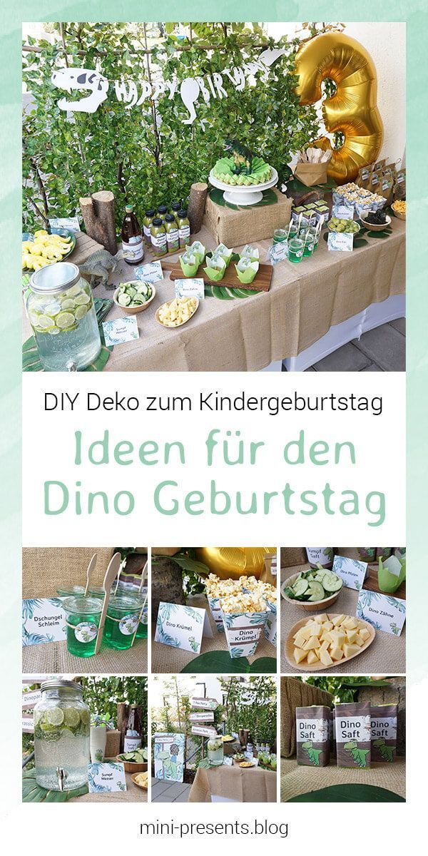 Do-it-yourself Party Deko für eine Dino Party zum Kindergeburtstag #boybirthdayparties