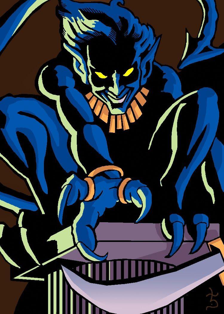Saturday Sketch: Limbo Nightcrawler #Marvel #Comicbook #Nightcrawler #Sketchcard #Limbo #Magik #Xmen