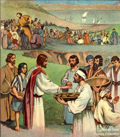 Luke 9 Bible Pictures Jesus Feeding The 5000 People Bible Pictures Luke 9 Jesus