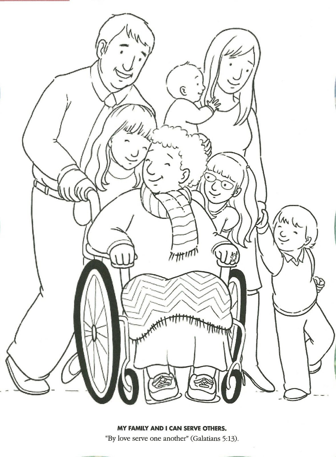 LDS Primary Coloring Pages | coloring page serving and showing love ...