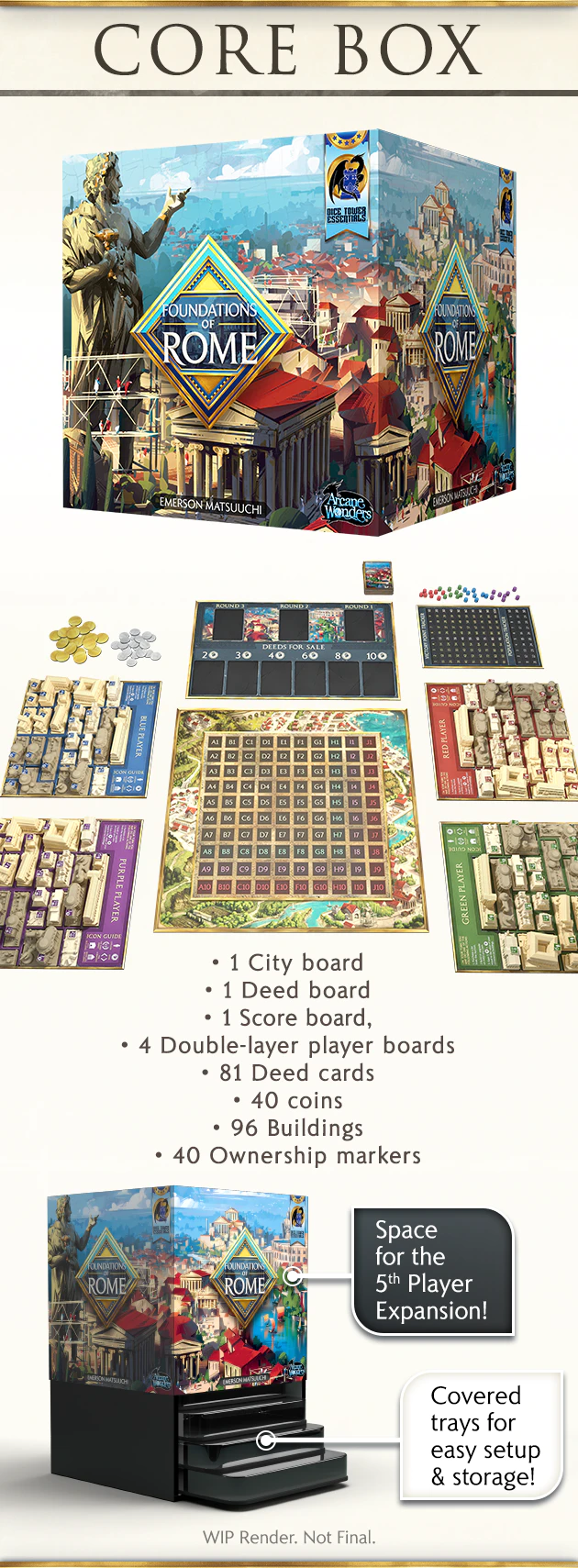 Foundations Of Rome By Arcane Wonders Kickstarter In 2020 Foundation Rome City Building Game