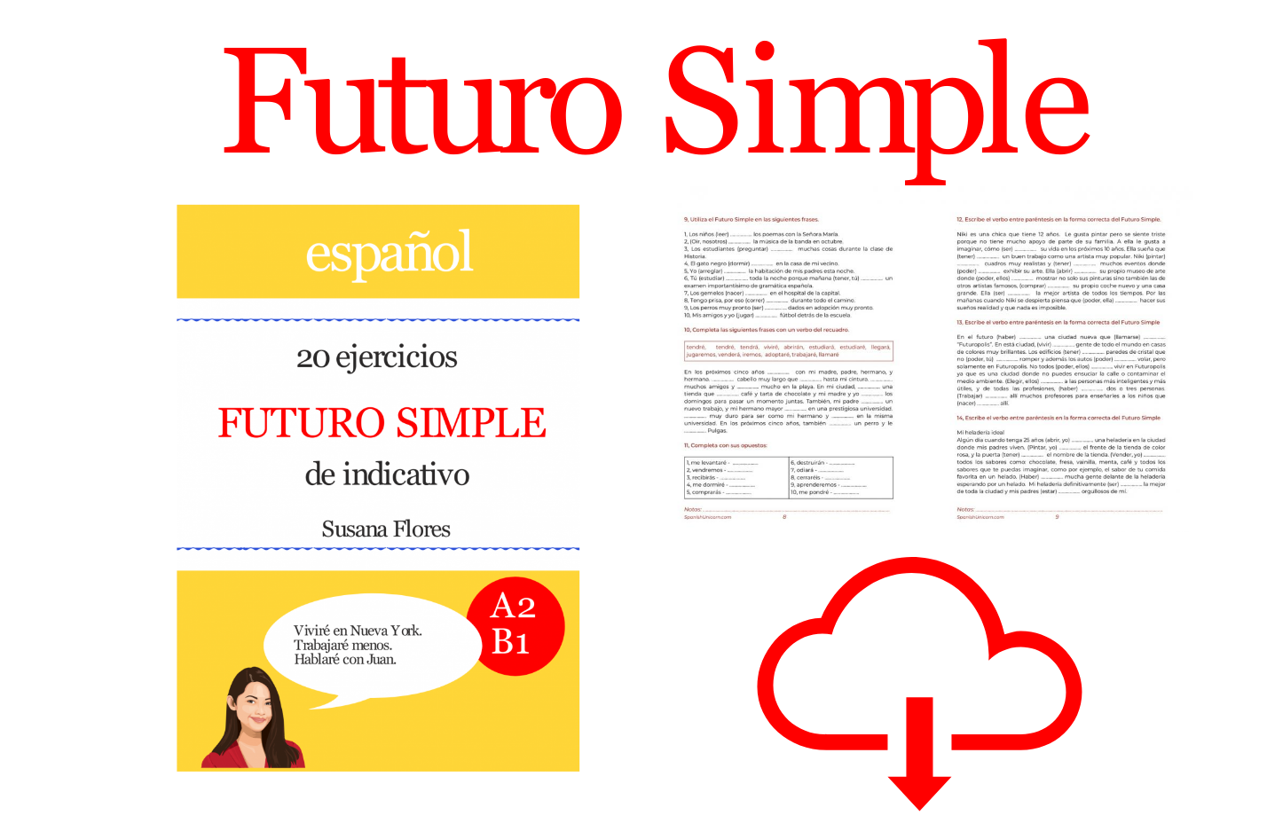 Futuro Simple 20 Ejercicios Learning Spanish Spanish Worksheets Spanish Lessons [ 946 x 1428 Pixel ]