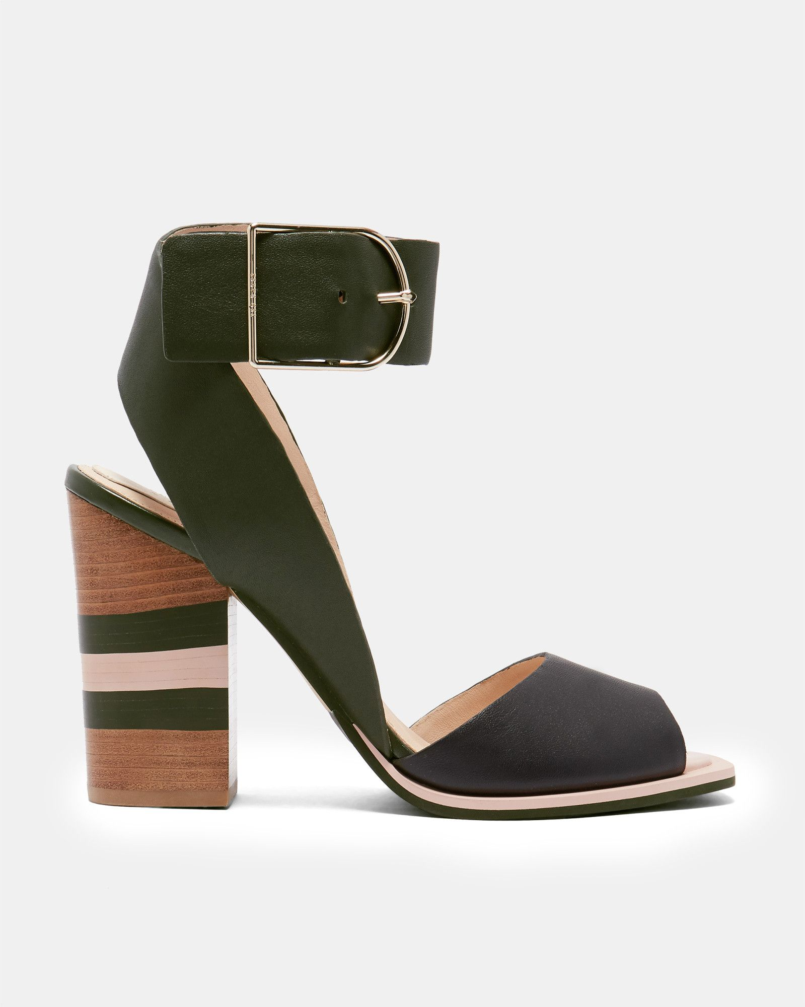 01113dfe411 THASIE Colour-block detail heeled sandals #TedToToe | Ted Baker ...