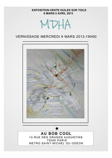 Affiche Expo-vente au Bob Cool, 13 rue des Grands Augustins, 75006 Paris.