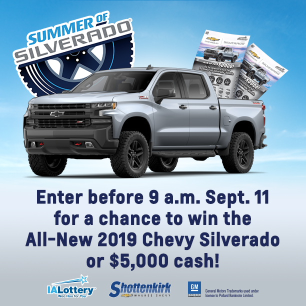 Enter before 9 a.m. Sept. 11 for your FINAL chance to win
