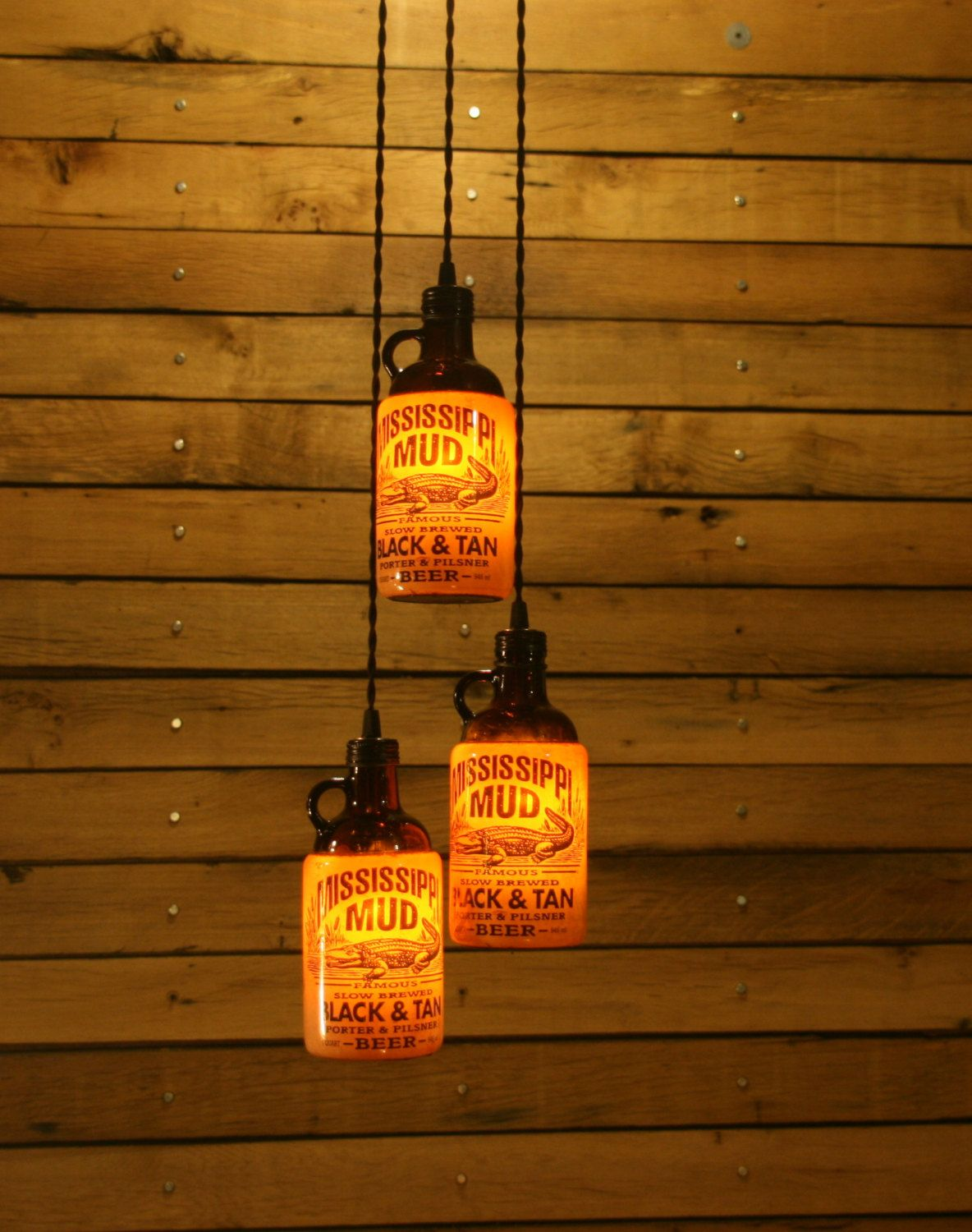 The Ultimate Beer Bottle Pendant Light   Bar Light   Bar Room Light  Fixture. $54.00