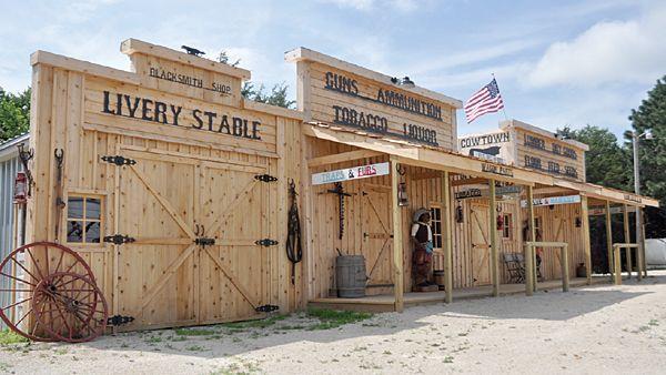 how to build a western town facade