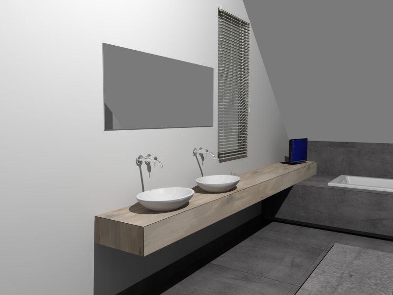 Mooi basic ontwerp tekening badkamer design