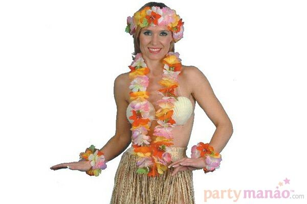 Hawaiian Flower Garland Set.  Exciting New Range of Party Props. Visit: http://su.pr/48OQzg