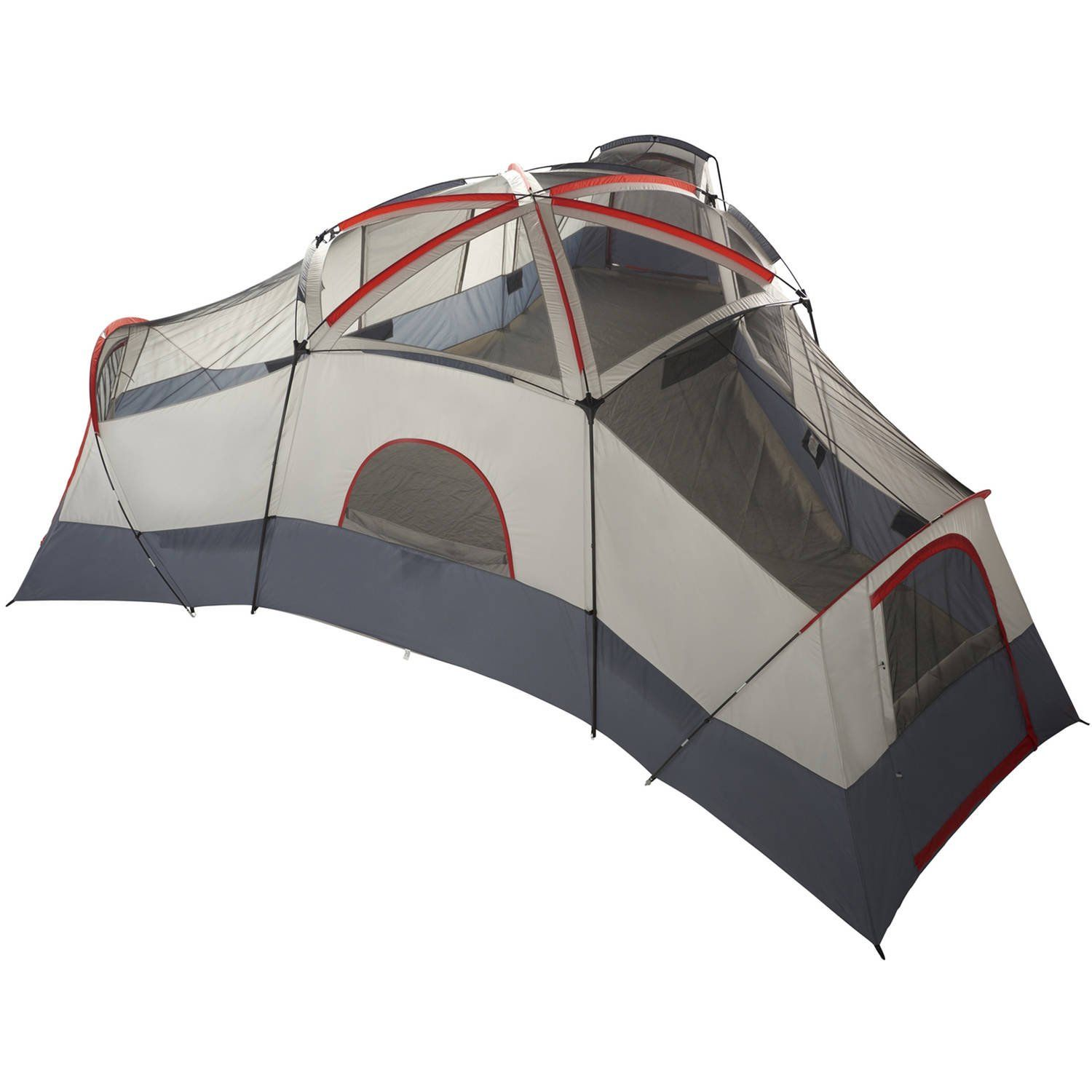 Ozark Trail 20 Person 4 Room Cabin Tent With 3 Separate Entrances Walmart Com Family Tent Camping Best Tents For Camping Cabin Tent