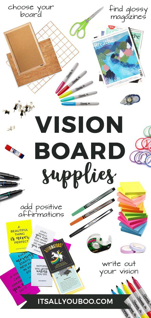 Ready to create your vision board for your dreams and aspirations? Click here for everything you need to create a DIY vision board to manifest your intentions, including a list of supplies and steps to take. Plus, get FREE inspirational Printable quotes. #VisionBoard #Visualization #Dreams #Aspirations #Manifest #Positivity #LOA #LawOfAttraction #Affirmations #AbrahamHicks #PositiveMindset #Affirm #Believe #ManifestMoney #ManifestLove #Vibration #Energy #Intentions #LifePlanning #LifeGoals