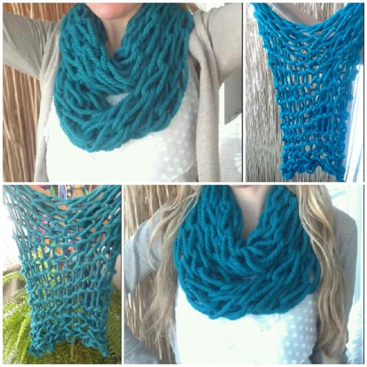 Arm Knitted Scarfi Actually Made One Yesterday In 2 Hours I