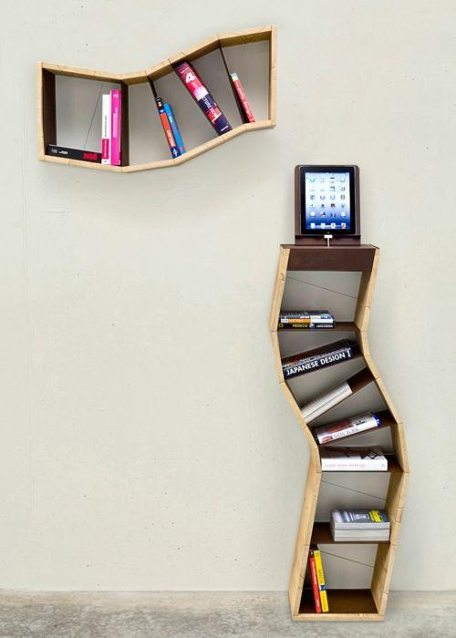 buecherregal design ideen, kreative ideen für bücher aufbewahrung - hausbibliothek design, Design ideen