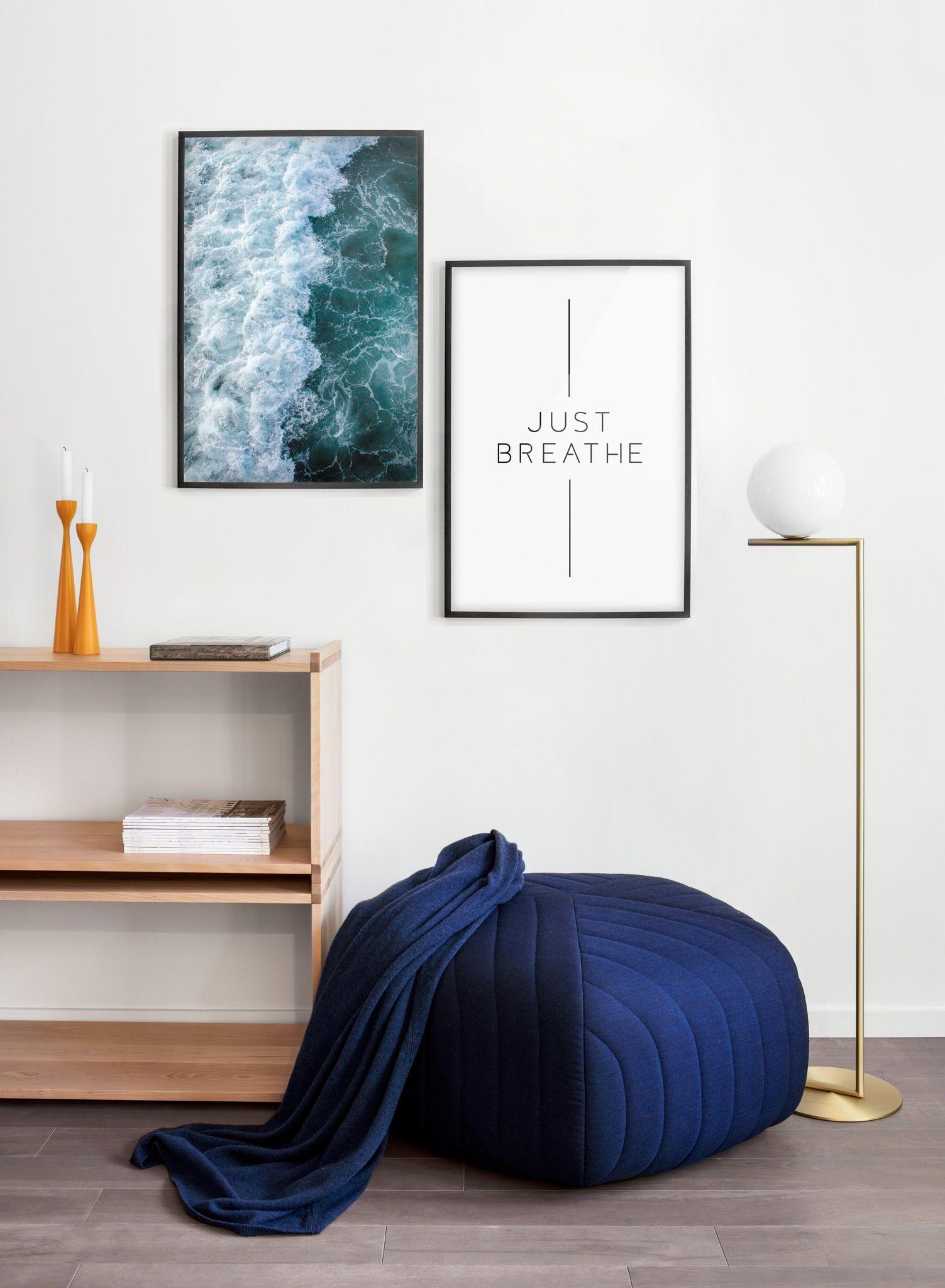 Just breathe perfect pair posters blue decor pinterest