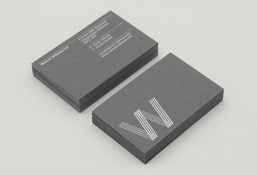 Wescott Williams Extremely Classy Business Card Business Card Design Creative Business Cards Creative Name Card Design