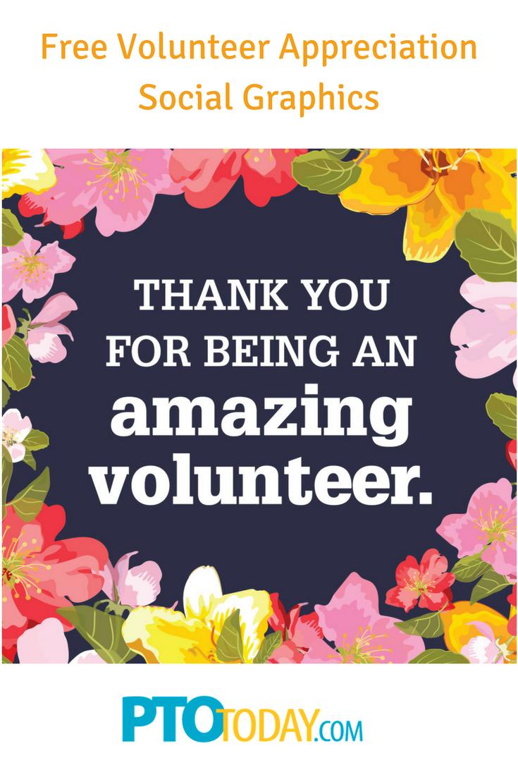 Facebook Graphics for School Volunteer Appreciation