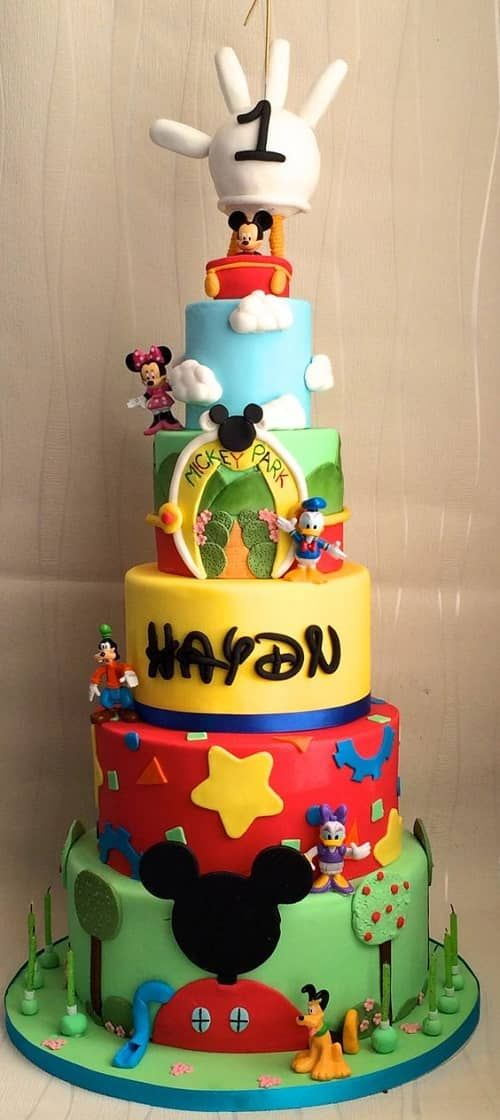 Mickey Mouse Birthday Cake Mickey Mouse Pinterest Essentials
