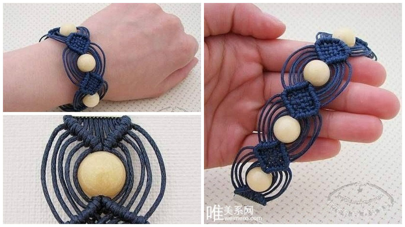 Interesting alternative woven bracelet diy tutorial craft