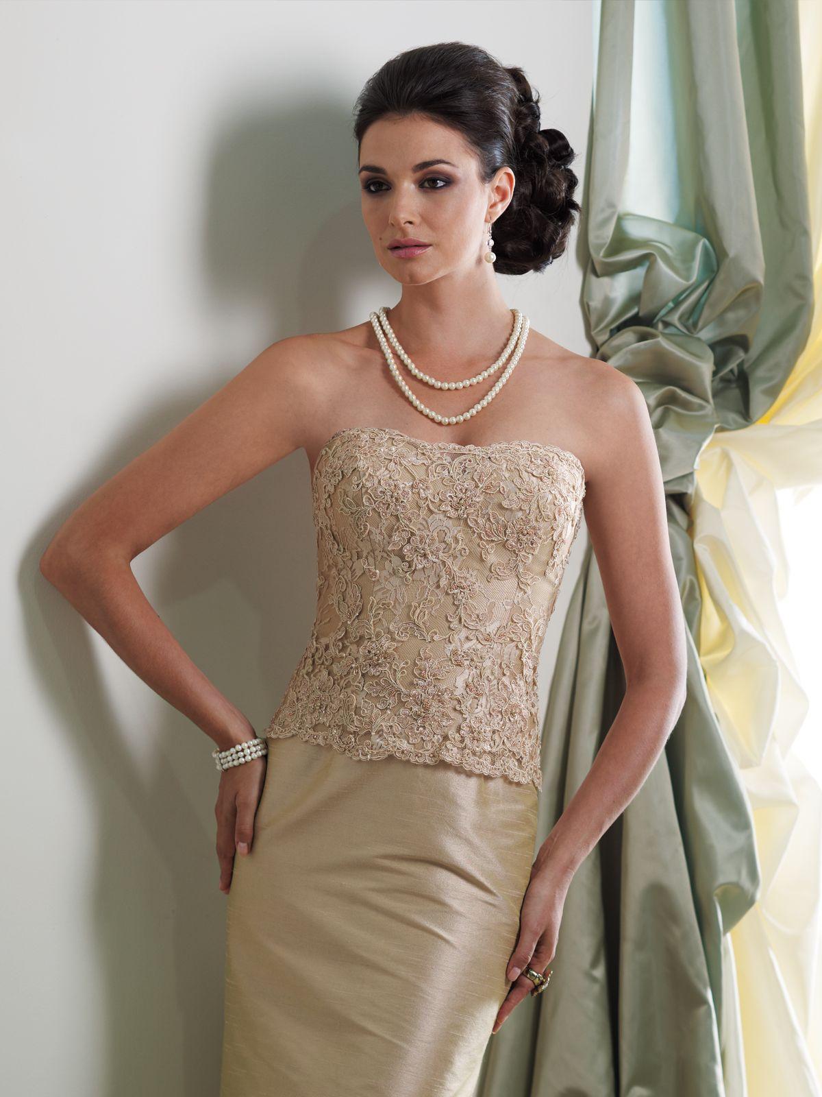 c03336b7e59 Montage by Mon Cheri - 113944 - Two-piece silk essence and lace dress set