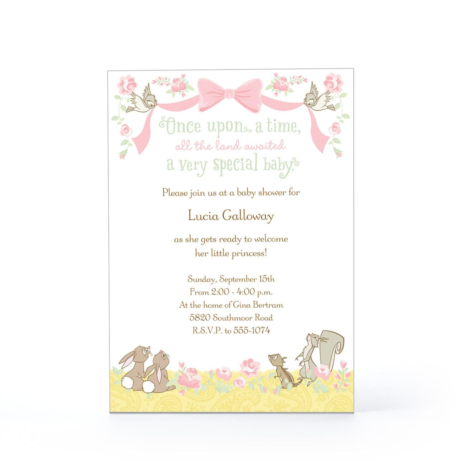 Disney forest animals baby invitation hallmark future disney forest animals baby invitation hallmark filmwisefo Choice Image