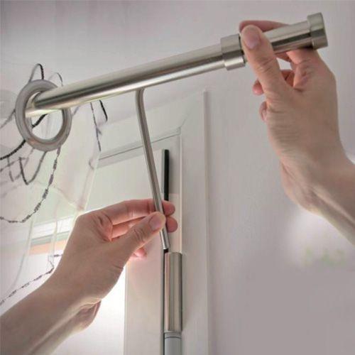 Tringles sans perçage pour fenêtre PVC : fixez vos rideaux ...