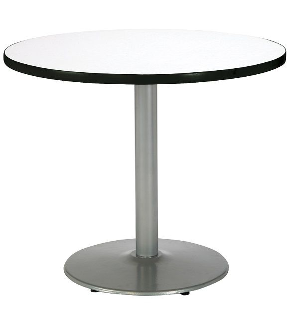 Mode Cafe Table W Silver Round Base 30 Round Break Room