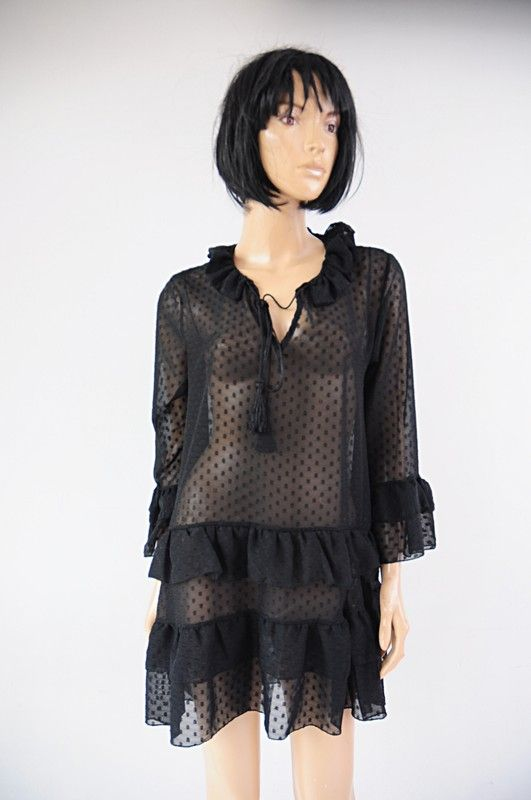 5be548527f Milady sukienka czarna mgiełka r. 38   40 - Vinted
