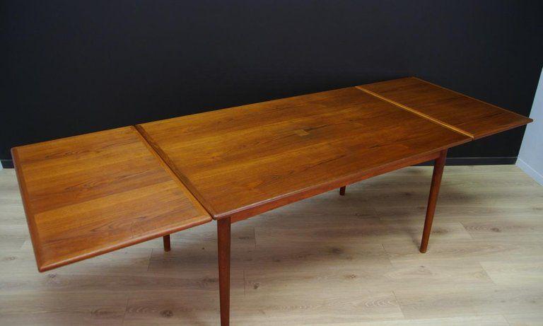 Late 20th Century Danish Design Dining Table Vintage Teak Retro