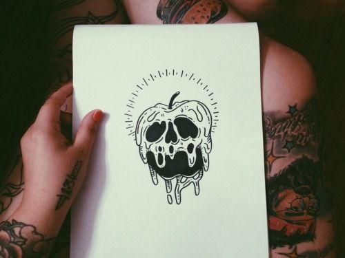 drawing art disney tattoo Witch snow white evil sharpie witchcraft flash tattoo flash poison apple