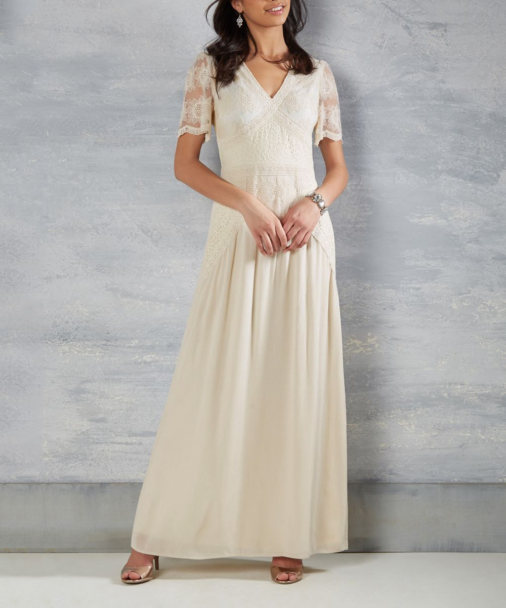 Ivory Right Here & Vow Maxi Dress | Products | Pinterest