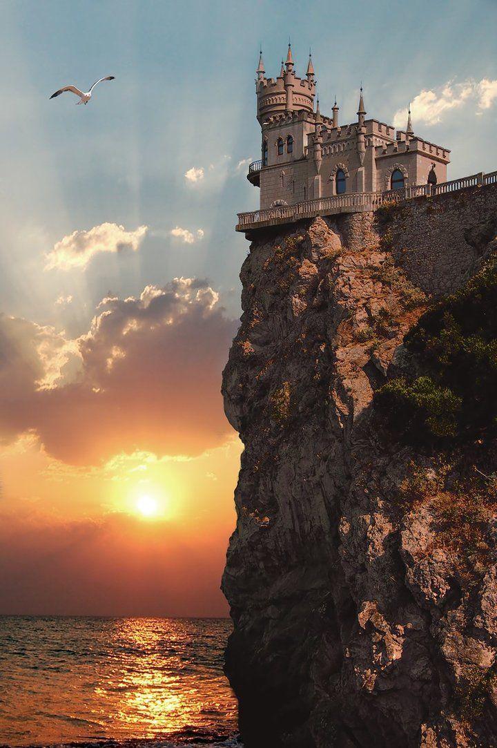 16 Swallow's Nest Castle (Crimea) by Bilibin Maksym