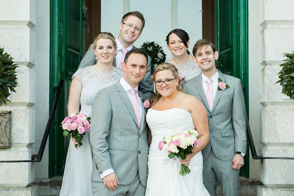 Bridal Party at Merley House, Grey and Pink theme for the wedding