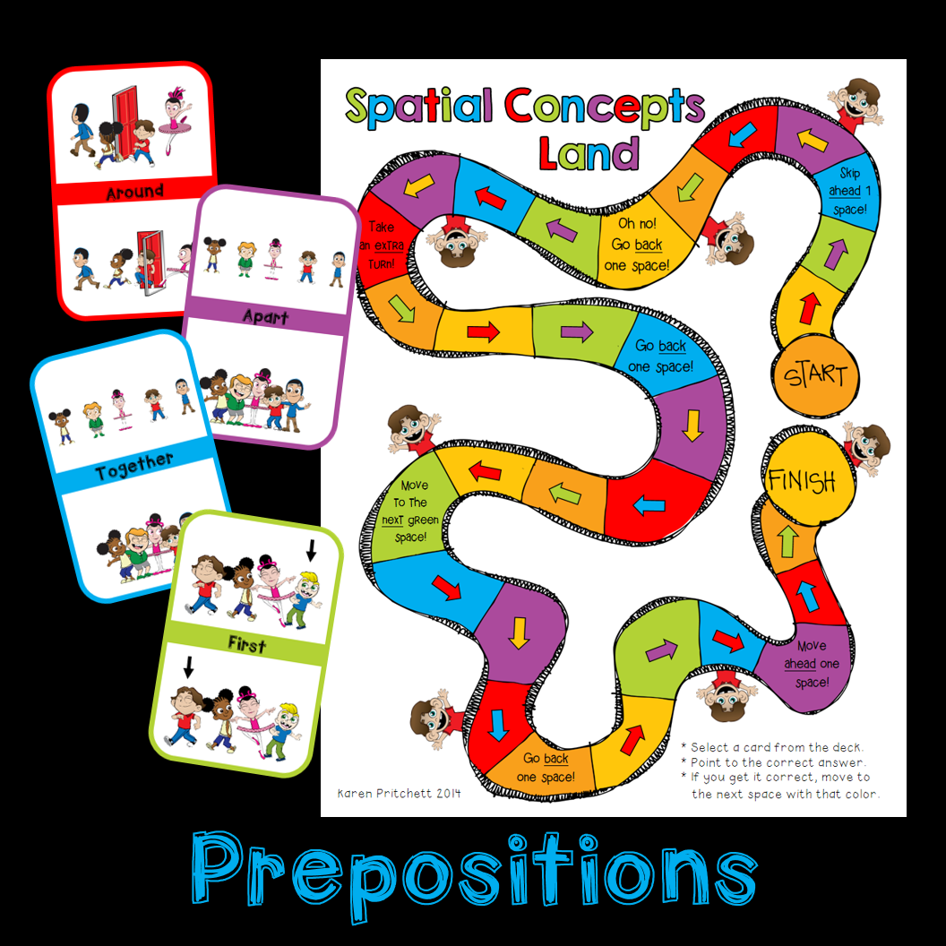 Prepositions Spatial Concepts Positional Words Game And Flash Cards