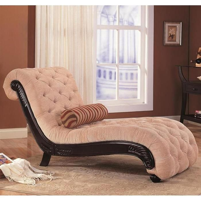 Traditional Tufted Chaise Lounge Puffy Couches
