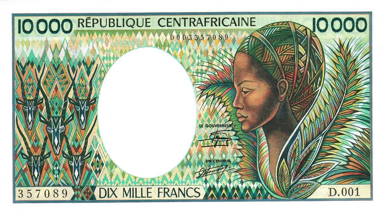 Central African Republic Banknotes Coin Collecting Coins Profile Geography Money