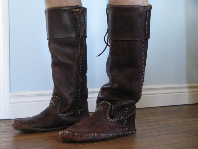 Apache Boot Moccasins in Leather, Hides