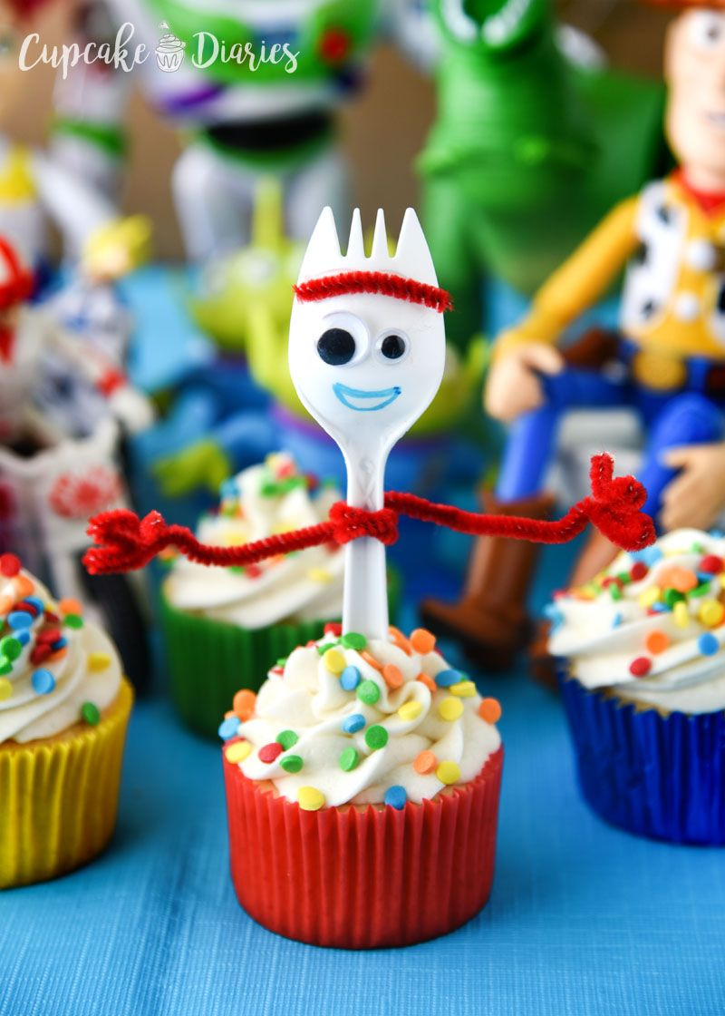 Remarkable Forky Cupcakes Recipe With Images Toy Story Birthday Cake Funny Birthday Cards Online Inifofree Goldxyz