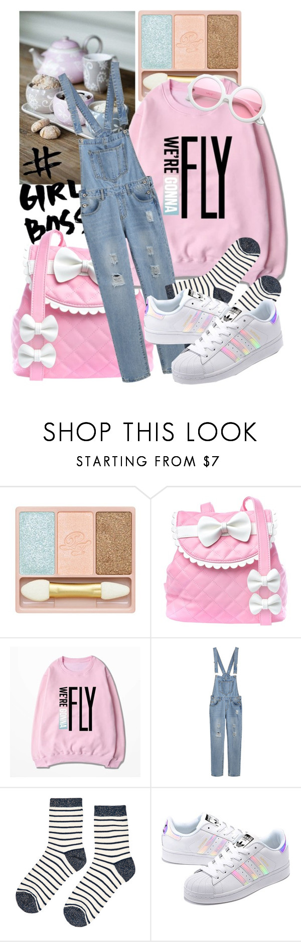 """""""#girlboss"""" by rubystripes ❤ liked on Polyvore featuring Paul & Joe, Sugarbaby, Accessorize, adidas Originals and ZeroUV"""