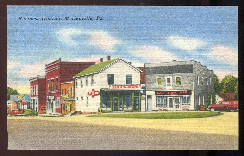 3072 Marienville Pa Jenks Township Forest County 1950s Soda Bar Red White Forest County Red And White Forest