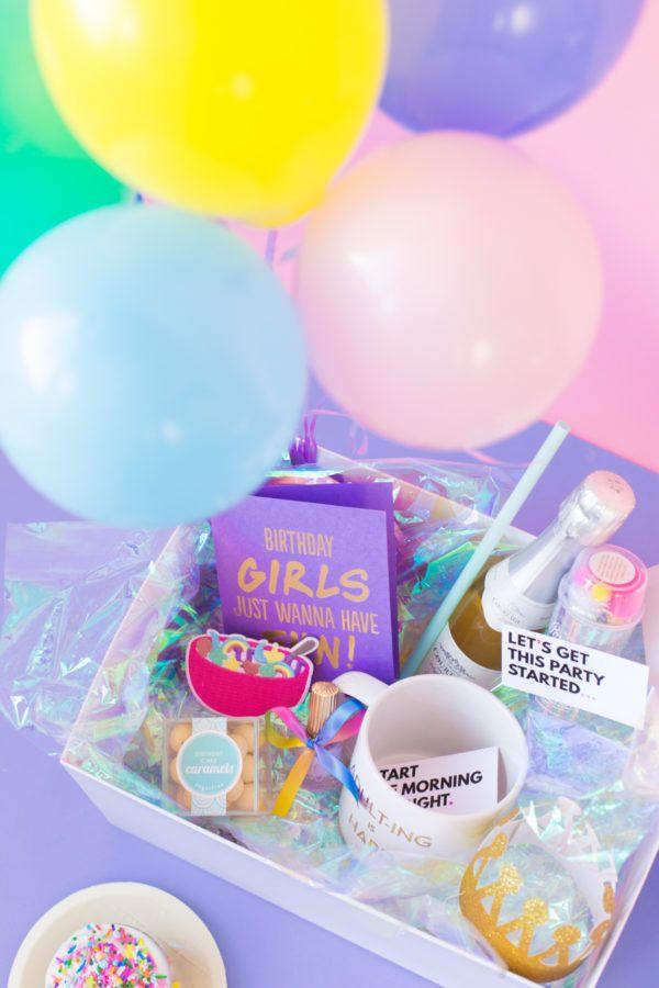 Diy Birthday In A Box For Your Bff Birthday Crafts Diy Birthday